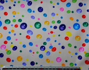"""BEIGE PVC coated fabric * waterproof * pattern """"BUBBLES"""""""
