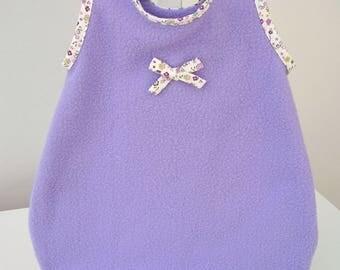 Sleeping bag for 36 cm doll made with fleece fabric