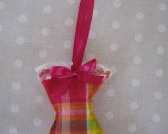 Free shipping! corset pink madras Keyring