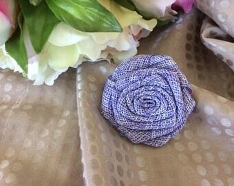 5 cm Lavender burlap flower
