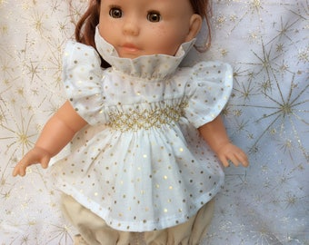 Blouse portion and polka dot gold doll 36 cm