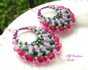 """DALE"" WOVEN OVAL HOOP EARRINGS"