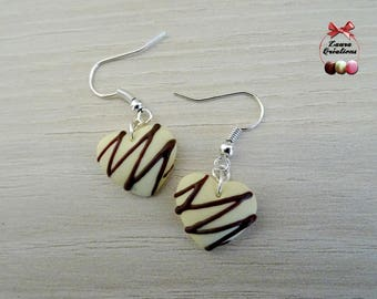 Chocolate heart earring