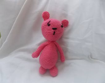 the sad little pink bear