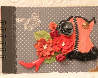 Photo album hand made romantic keepsake to decorate with its embellishments