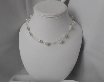 ELANA necklace with pearl beads