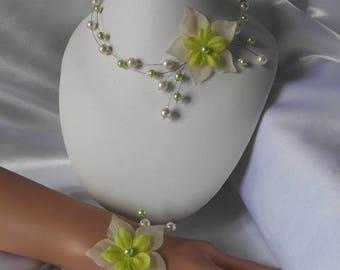 "Wedding children ""Read"" necklace bracelet set"