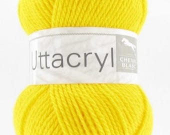 yarn UTTACRYL yellow broom color No. 081 white horse