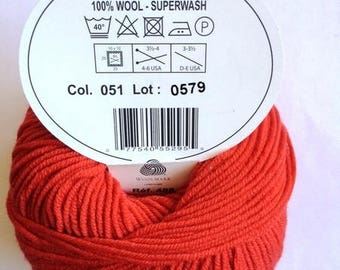 MOST of DMC colours 051 red wool