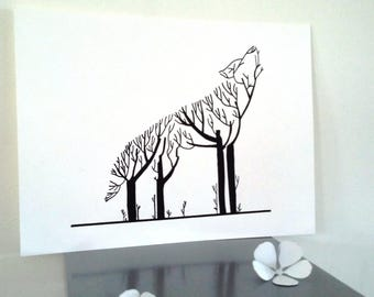 "Poster Illustration ""Wolf"""