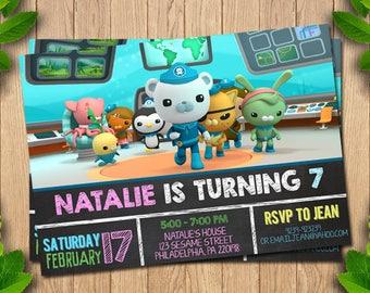 Octonauts Invitation, Octonauts Birthday Invitation,  Octonauts Birthday Invites, Octonauts  birthday, Octonauts Printable, Octonauts Party,