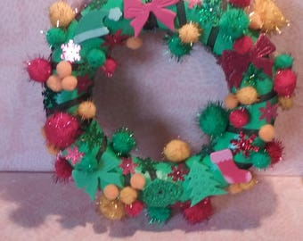 Wreath - green, Orange and Red