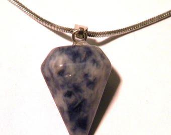 Pendant natural stone - Jasper - 25mm - natural polished semi precious gemstone - F191