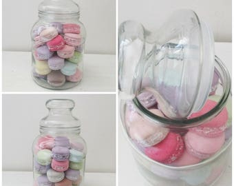 Shabby Style candy box of 36 Macaron plaster tinted in the mass