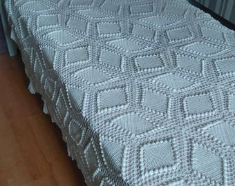 throw, bedspread, completely hand crochet