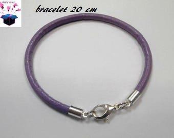 1 1 strand with clasp 20 cm purple leather bracelet