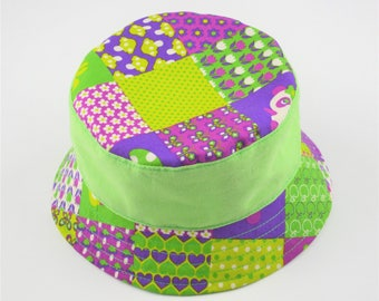 Child's hat reversible cotton - Agathe 51 cm