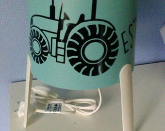 Personalized tractor bedside lamp