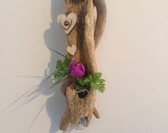Driftwood wall vase