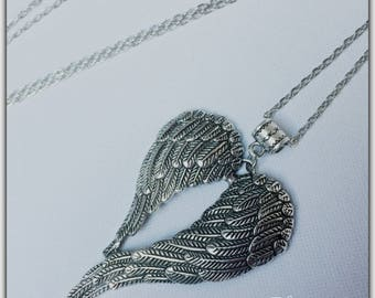 Necklace silver Angel Wings, Angel Wings necklace