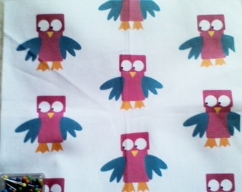 Creation of printed fabric owls pattern