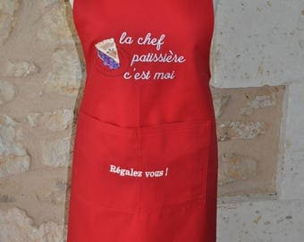 APRON WOMAN RED CHEF PASTRY THAT IS ME