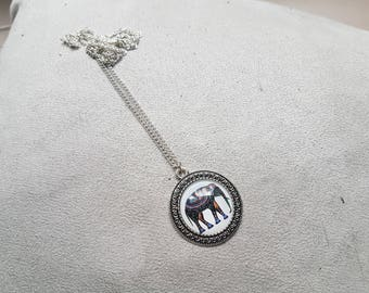 large silver elephant necklace