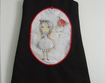 "Pretty winter dress ""Girl and her balloon flower"" T 12 years"