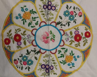 Hand embroidered fabric