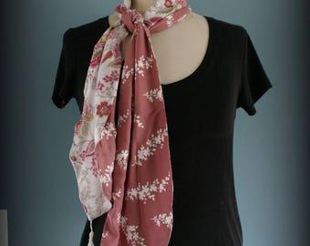 Foulard Pink Flower et Cachemire