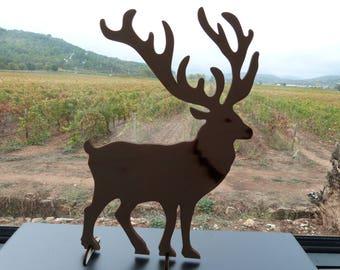 Deer wooden pedestal