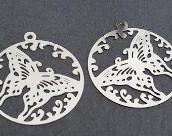 prints 4 pendants 25 mm stainless steel