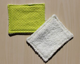 """Washable wipe """"small"""" - 8.5 x 11 cm - dots pattern"""