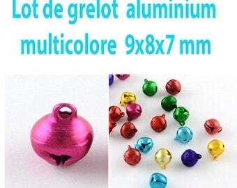 25 bells aluminum Bell, multicolored color, 9 x 8 x 7 mm