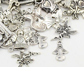 Set of 25 charms mixed fairy