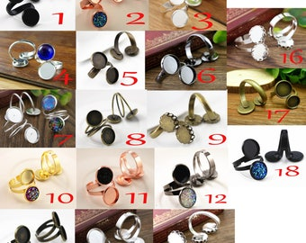 12 MM / 1 ring finding to choose 12 mm cabochon