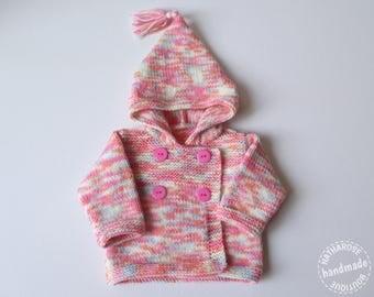 Paletot à capuche bébé fille 3 mois multicolore