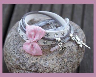 """Cuff Bracelet """"life in pink(rose)"""""""