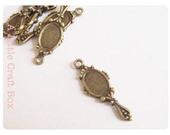 "5 ""mirror"" charm - bronze color"