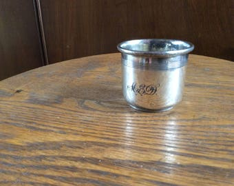 Very Vintage Forbes Silver Plate Baby Cup - monogramed
