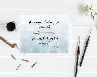 Atticus Poem Digital Print - 8 x 10