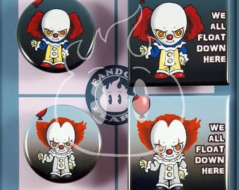 It Pennywise inspired pinback button badge