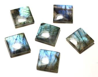 1pc - Cabochon stone - Labradorite square 20mm - 8741140020061