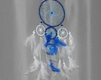 Catch dreams, Dreamcatcher, dream catcher blue and white