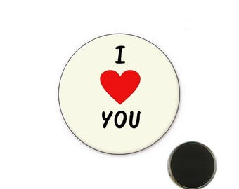Magnet i love you 25 mm