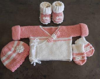 knited set baby girl