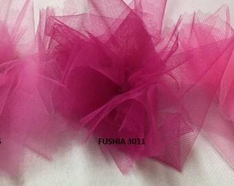 tulle color soft cherry width 300 cm