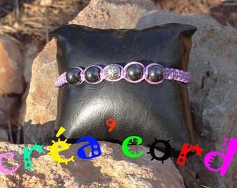 black and multicolor adjustable shamballa bracelet