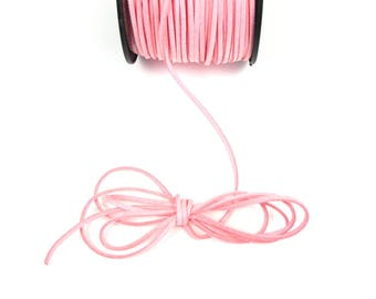 Pink clear 3mm suede cord / 1.5 mm sold by the cut
