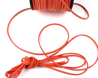 SALMON 3 mm cut 1.5 mm suede cord